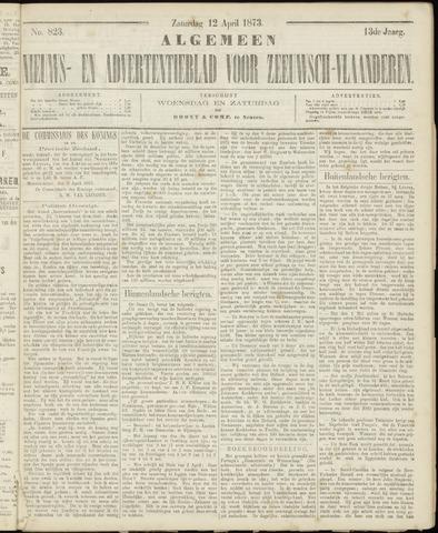 Ter Neuzensche Courant. Algemeen Nieuws- en Advertentieblad voor Zeeuwsch-Vlaanderen / Neuzensche Courant ... (idem) / (Algemeen) nieuws en advertentieblad voor Zeeuwsch-Vlaanderen 1873-04-12
