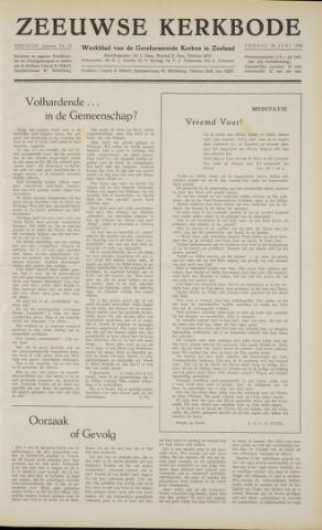 Zeeuwsche kerkbode, weekblad gewijd aan de belangen der gereformeerde kerken/ Zeeuwsch kerkblad 1958-06-20