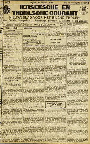 Ierseksche en Thoolsche Courant 1928-10-26