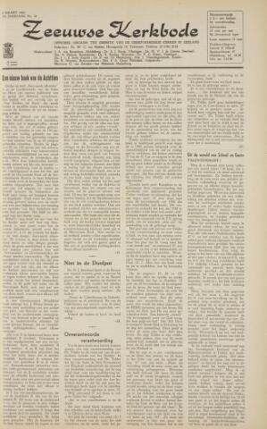Zeeuwsche kerkbode, weekblad gewijd aan de belangen der gereformeerde kerken/ Zeeuwsch kerkblad 1963-03-08