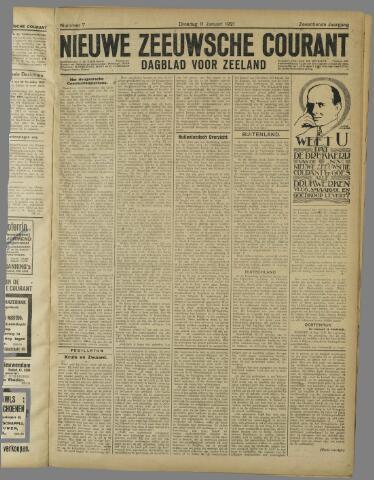 Nieuwe Zeeuwsche Courant 1921-01-11