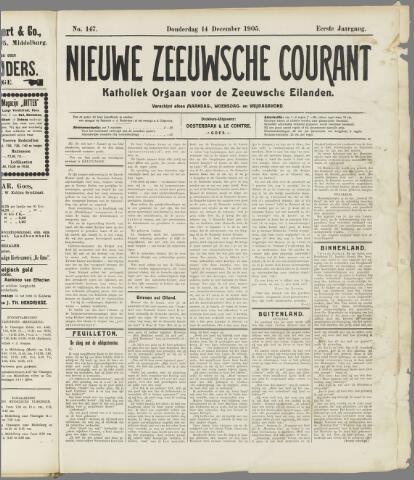 Nieuwe Zeeuwsche Courant 1905-12-14