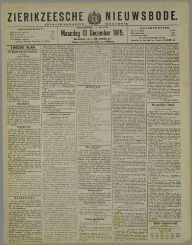 Zierikzeesche Nieuwsbode 1915-12-13