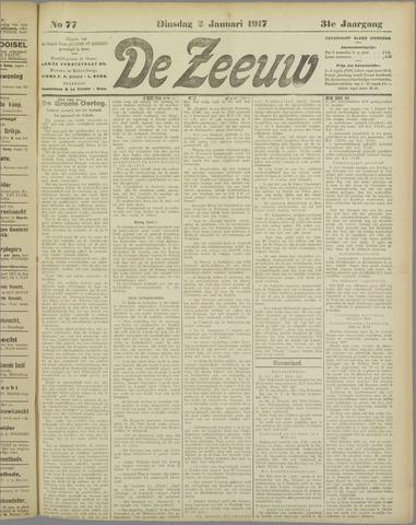De Zeeuw. Christelijk-historisch nieuwsblad voor Zeeland 1917