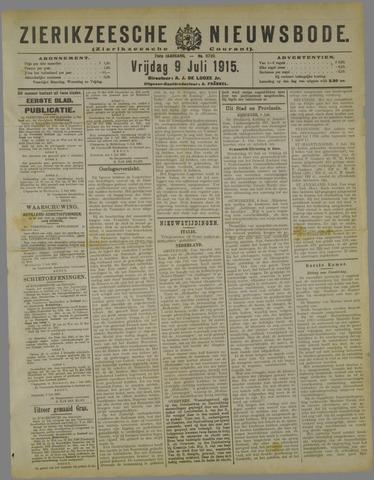 Zierikzeesche Nieuwsbode 1915-07-09