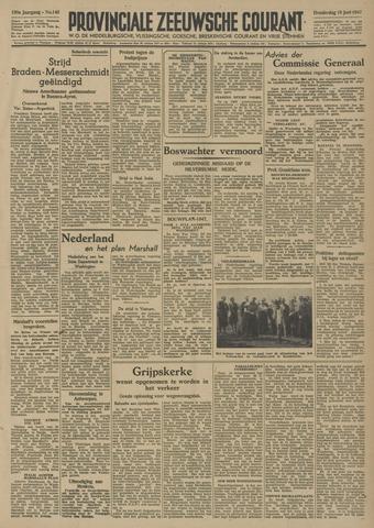 Provinciale Zeeuwse Courant 1947-06-19