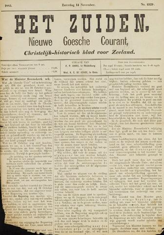 Het Zuiden, Christelijk-historisch blad 1885-11-14