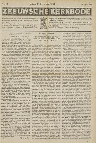 Zeeuwsche kerkbode, weekblad gewijd aan de belangen der gereformeerde kerken/ Zeeuwsch kerkblad 1945-09-21