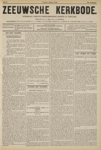 Zeeuwsche kerkbode, weekblad gewijd aan de belangen der gereformeerde kerken/ Zeeuwsch kerkblad 1940-03-01