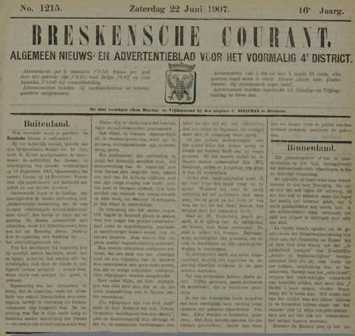 Breskensche Courant 1907-06-22