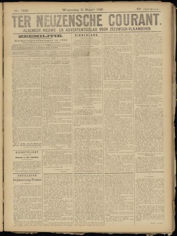 Ter Neuzensche Courant. Algemeen Nieuws- en Advertentieblad voor Zeeuwsch-Vlaanderen / Neuzensche Courant ... (idem) / (Algemeen) nieuws en advertentieblad voor Zeeuwsch-Vlaanderen 1923-03-21