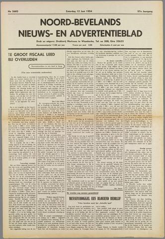 Noord-Bevelands Nieuws- en advertentieblad 1954-06-12