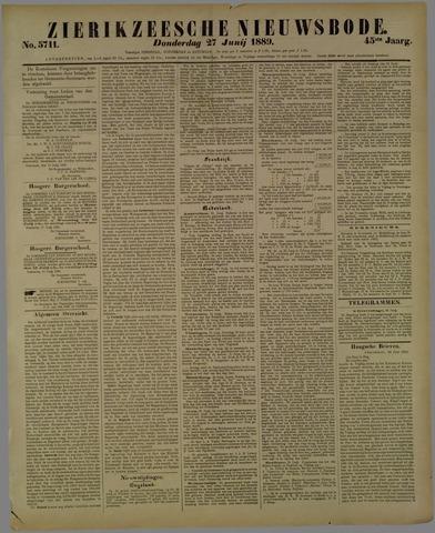 Zierikzeesche Nieuwsbode 1889-06-27