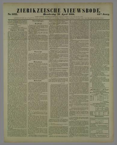 Zierikzeesche Nieuwsbode 1888-04-26