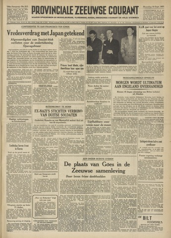 Provinciale Zeeuwse Courant 1951-09-10