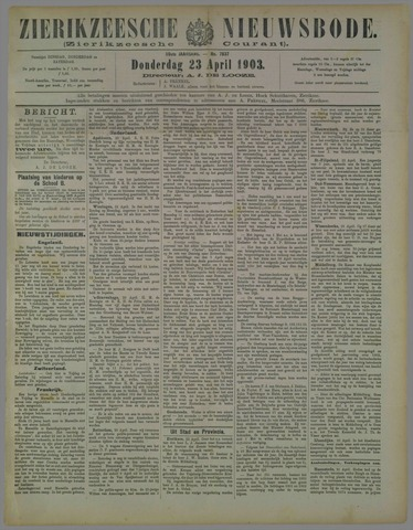 Zierikzeesche Nieuwsbode 1903-04-23