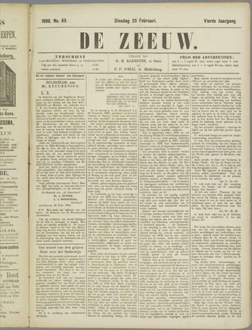 De Zeeuw. Christelijk-historisch nieuwsblad voor Zeeland 1890-02-25