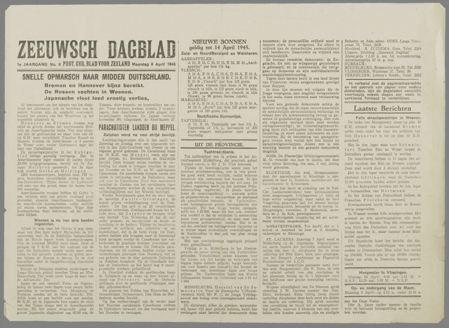 Zeeuwsch Dagblad 1945-04-09
