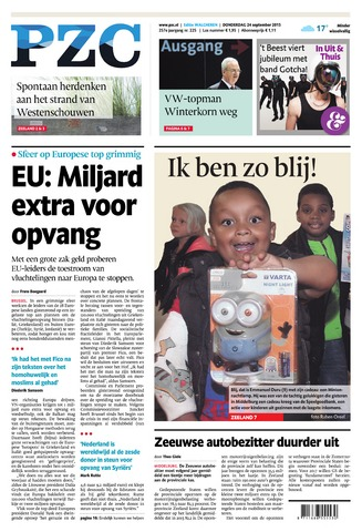 Provinciale Zeeuwse Courant 2015-09-24