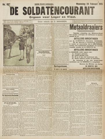 De Soldatencourant. Orgaan voor Leger en Vloot 1915-02-24