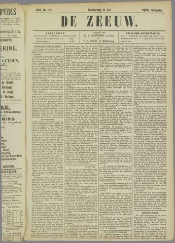 De Zeeuw. Christelijk-historisch nieuwsblad voor Zeeland 1891-07-16