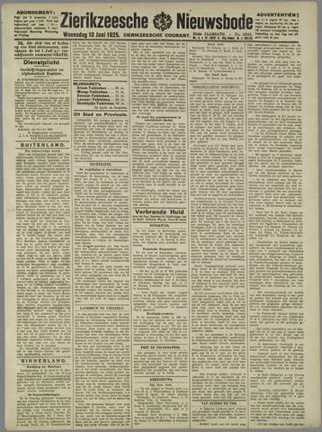 Zierikzeesche Nieuwsbode 1925-06-10