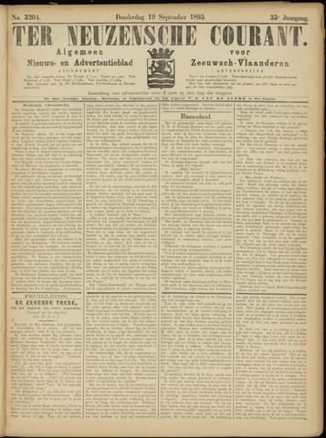 Ter Neuzensche Courant. Algemeen Nieuws- en Advertentieblad voor Zeeuwsch-Vlaanderen / Neuzensche Courant ... (idem) / (Algemeen) nieuws en advertentieblad voor Zeeuwsch-Vlaanderen 1895-09-19