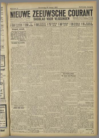 Nieuwe Zeeuwsche Courant 1922-01-26
