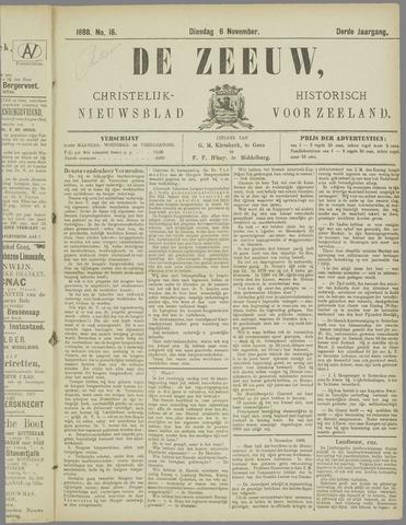 De Zeeuw. Christelijk-historisch nieuwsblad voor Zeeland 1888-11-06