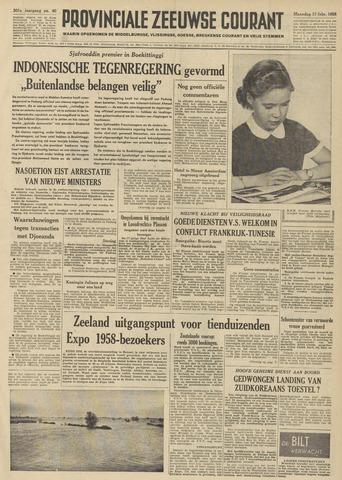 Provinciale Zeeuwse Courant 1958-02-17