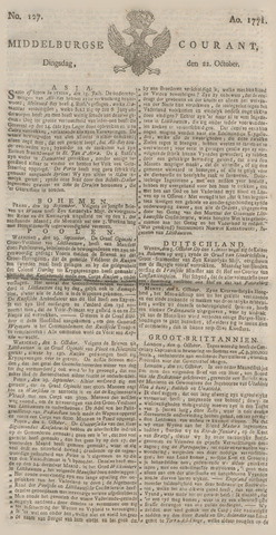 Middelburgsche Courant 1771-10-22