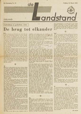 De landstand in Zeeland, geïllustreerd weekblad. 1943-03-19