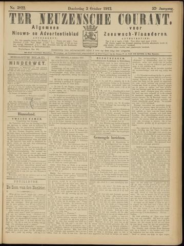 Ter Neuzensche Courant. Algemeen Nieuws- en Advertentieblad voor Zeeuwsch-Vlaanderen / Neuzensche Courant ... (idem) / (Algemeen) nieuws en advertentieblad voor Zeeuwsch-Vlaanderen 1912-10-03