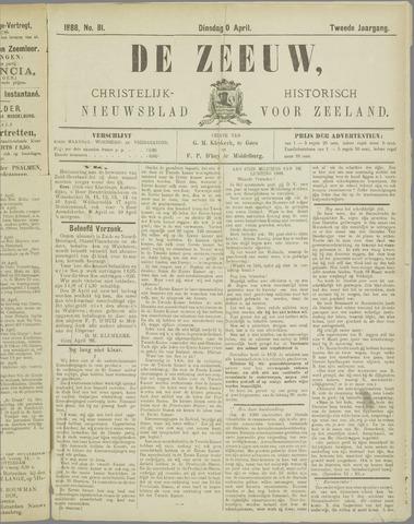De Zeeuw. Christelijk-historisch nieuwsblad voor Zeeland 1888-04-10