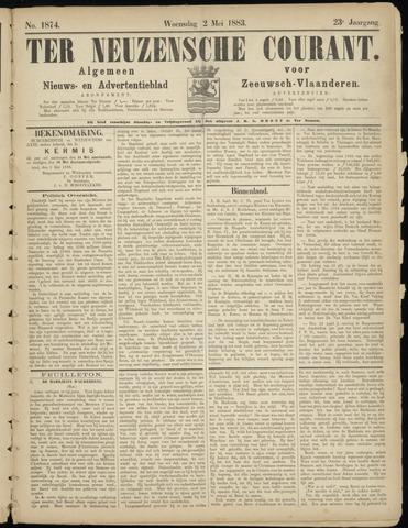 Ter Neuzensche Courant. Algemeen Nieuws- en Advertentieblad voor Zeeuwsch-Vlaanderen / Neuzensche Courant ... (idem) / (Algemeen) nieuws en advertentieblad voor Zeeuwsch-Vlaanderen 1883-05-02