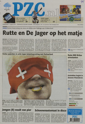 Provinciale Zeeuwse Courant 2011-08-11