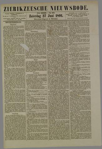 Zierikzeesche Nieuwsbode 1891-06-27