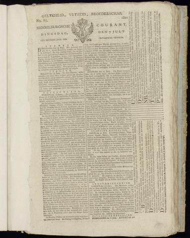 Middelburgsche Courant 1801-07-07