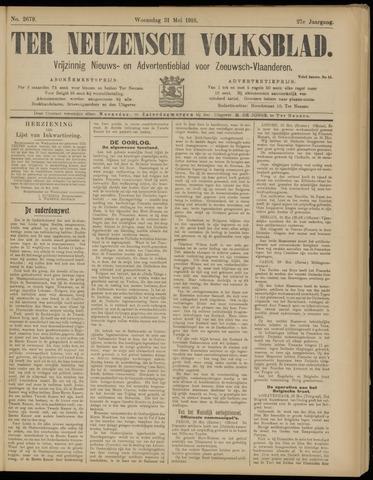Ter Neuzensch Volksblad. Vrijzinnig nieuws- en advertentieblad voor Zeeuwsch- Vlaanderen / Zeeuwsch Nieuwsblad. Nieuws- en advertentieblad voor Zeeland 1916-05-31