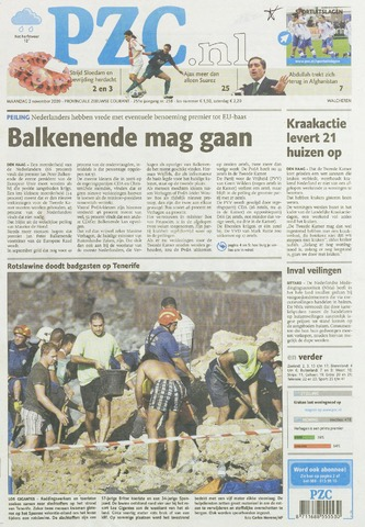 Provinciale Zeeuwse Courant 2009-11-02