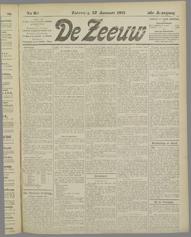 De Zeeuw. Christelijk-historisch nieuwsblad voor Zeeland 1917-01-27
