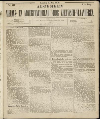 Ter Neuzensche Courant. Algemeen Nieuws- en Advertentieblad voor Zeeuwsch-Vlaanderen / Neuzensche Courant ... (idem) / (Algemeen) nieuws en advertentieblad voor Zeeuwsch-Vlaanderen 1870-07-30