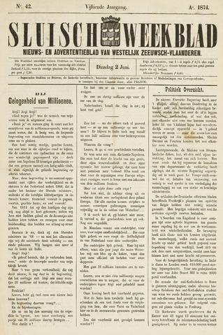 Sluisch Weekblad. Nieuws- en advertentieblad voor Westelijk Zeeuwsch-Vlaanderen 1874-06-02