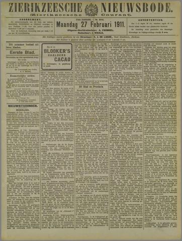 Zierikzeesche Nieuwsbode 1911-02-27