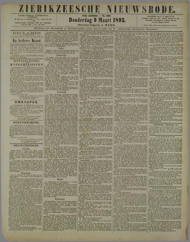 Zierikzeesche Nieuwsbode 1893-03-09