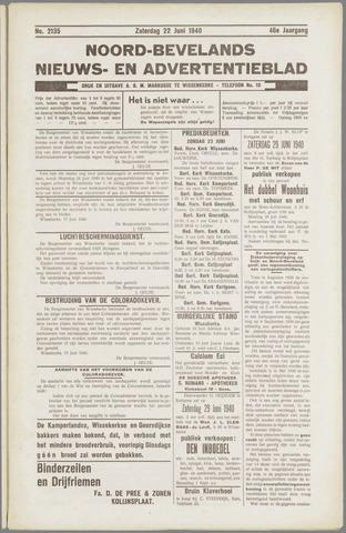 Noord-Bevelands Nieuws- en advertentieblad 1940-06-22