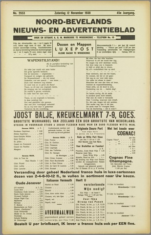Noord-Bevelands Nieuws- en advertentieblad 1938-11-12