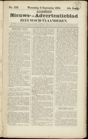 Ter Neuzensche Courant. Algemeen Nieuws- en Advertentieblad voor Zeeuwsch-Vlaanderen / Neuzensche Courant ... (idem) / (Algemeen) nieuws en advertentieblad voor Zeeuwsch-Vlaanderen 1865-09-06