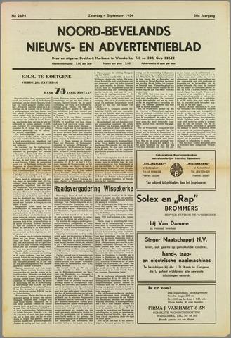 Noord-Bevelands Nieuws- en advertentieblad 1954-09-04