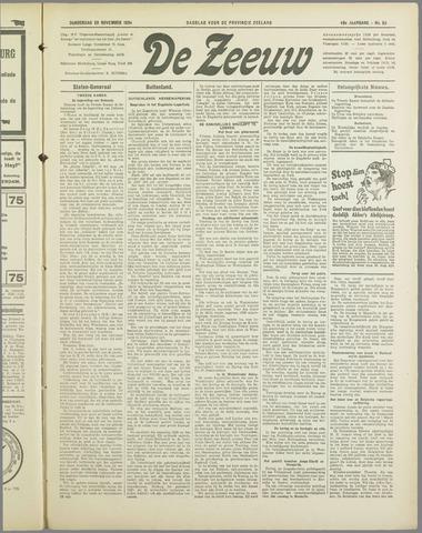 De Zeeuw. Christelijk-historisch nieuwsblad voor Zeeland 1934-11-29
